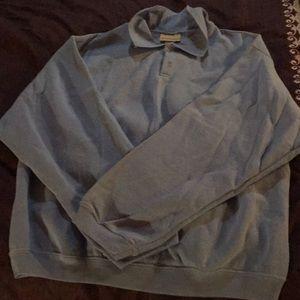 WINTER St. John's Bay Blue Sweat Shirt Large